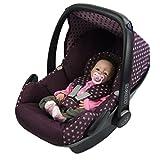 BAMBINIWELT Ersatzbezug für Maxi-Cosi PEBBLE 5-tlg, Bezug für Babyschale, Komplett-Set STERNE BORDEAUX *NEU*