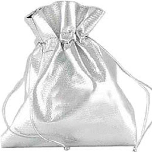 Pochette Cadeau Organza X 10 pour Bijou 9 x 12 cm Satin Argenté