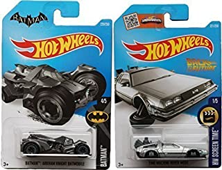 Back to the Future Batman 2016 Car Set Time Machine Hot Wheels Mainline Series Hover Mode Delorean Screen Time Batman
