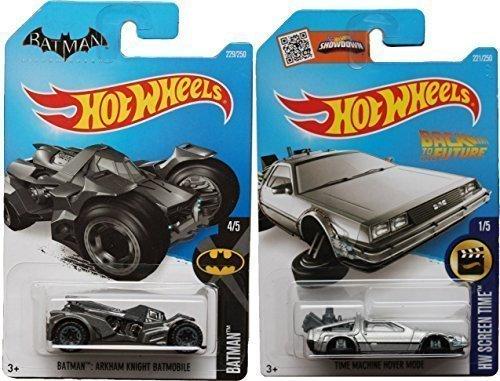 Hot Wheels Back to The Future Batman 2016 Car Set Time Machine Mainline Series Hover Mode Delorean Screen Time Batman by