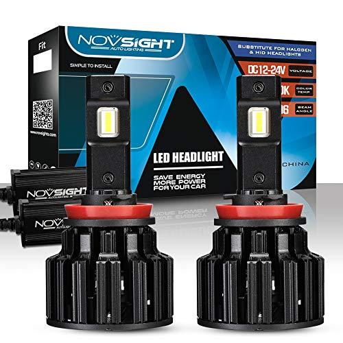 NOVSIGHT H11 H8 H9 LED Koplamp Lampen 100W (50W/Bulb) 20000LM (10000LM/Bulb) 6000K Auto Vervangingslampen van Halogeen en Xenon Kit 2 Lampen