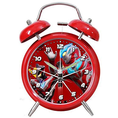 hlyhly Digitaluhr wecker 4 Zoll Silber Wecker mit super laut klingelnden stummen Cartoon Kinder Anime Briefpapier-Red Galaxy X_Siehe Beschreibung für Spezifikationen