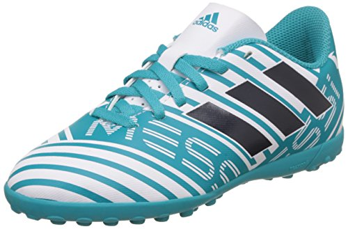 Adidas Nemeziz Messi 74 Tf J, Scarpe da Calcio Unisex-Bambini, Blu (Footwear White/Legend Ink/Energy Blue), 38 EU