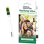 NexTemp Ultra 24 Pack - Fahrenheit - Single-Use Thermometer, Individually Wrapped - Superior Accuracy and The Ultimate in Infection Control - Extended 1-Min Signal Retention