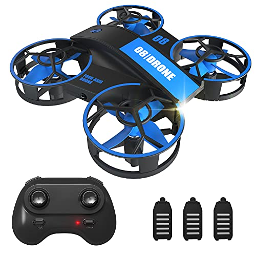 Mini Drone for Kids Beginners, Fcoreey Remote Control Drone, RC Nano Quadcopter with 3 Batteries, 3 Speeds, Auto Hovering, 3D Flip, Auto Rotating, Headless Mode, Indoor Flying Toy Gift for Boys Girls