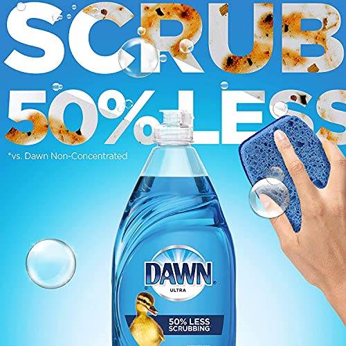 Product Image 10: Dawn Ultra Dishwashing Liquid Dish Soap (4x19oz) + Non-Scratch Sponge (2ct), Original Scent (Packaging May Vary), Combo pack