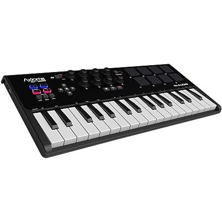 M-Audio Axiom AIR Mini 32 - Teclado controlador MIDI USB de 32 teclas sensibles a la velocidad, 8 pads + ProTools | First M-Audio Edition, Eleven ...