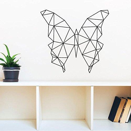 WeiMay. Geométricas Mariposas Wandaufkleber Moderna Wohnkultur Geometrie Animales Serie Abziehbilder 3D Vinilo Wandkunst Poster