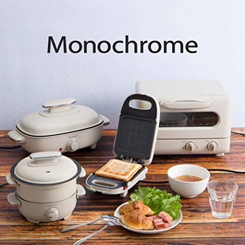 モノクローム ホットサンドメーカー ホワイト MSW-0600/W [Amazon限定ブランド]