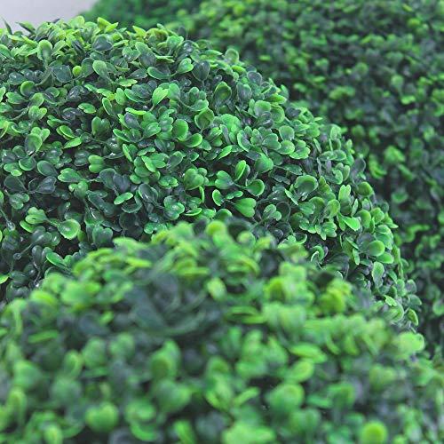 Decovego Buchsbaum Kugel Plastikpflanze Künstliche Pflanze Buxus Deko Ø28cm Innen und Aussen - 3