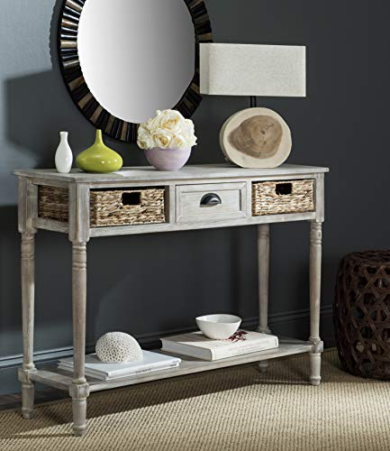 Safavieh Home Collection Christa Vintage White 3-Drawer Storage Console Table