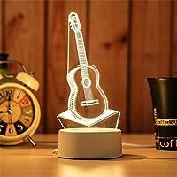 ギター3DフラットパネルLEDライトクリエイティブ3DLEDナイトライト小説幻想ナイトライト3Dファントムテーブルランプ家の装飾