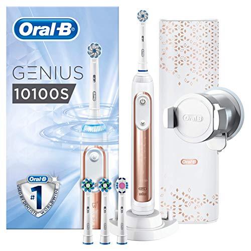 Oral-B Genius 10100S Rosegold Elektrische Zahnbürste mit Bluetooth