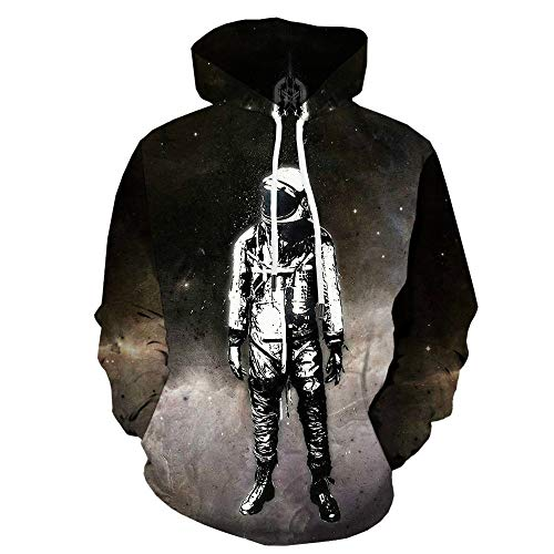 BAGFP Sudadera con Capucha New Astronaut 3D Sweater Universe