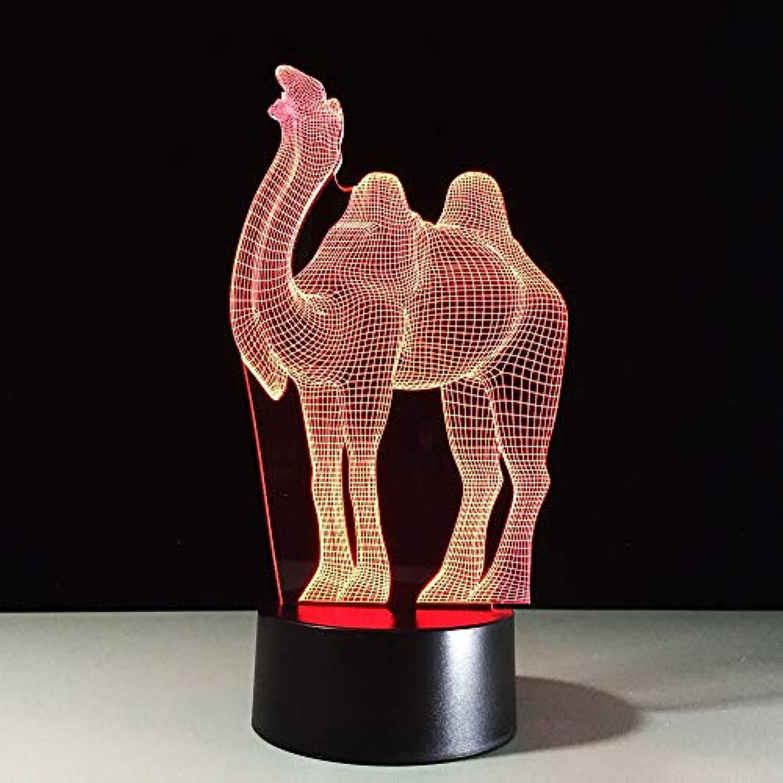 Mozhate Farbwechsel Atmosphre Tischlampe 3D Tierform Kamel Lampe Nachttischlampe Nachtlicht Led Beleuchtung Luminaria Decor Geschenke,Remote und berühren