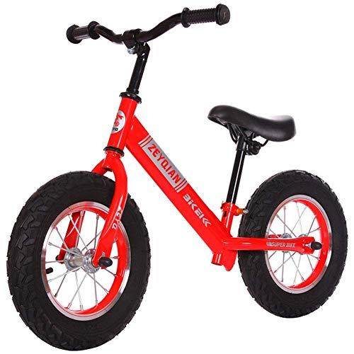 Learning Training Balancen-Fahrrad-Kinder Balancen-Fahrrad Erstes Fahrrad Aufblasbare Reifen, No-Pedal Wandern Bike for Kinder Kleinkinder 2 bis 6 Jahre, Schwarz (Farbe: rot) Zixin