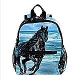 Staroutah Rucksack mit großem Fassungsvermögen Leichter Tagesrucksack Multifunktions-Laptop für Reisesport Schule Rennendes Pferd für Mädchen und Jungen Kinder