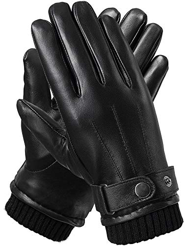 Flyhawk Winter Leather Gloves for Men 1