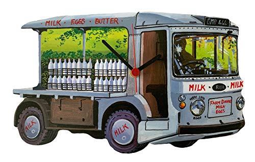 Larkrise Designs Mjölkflottörklocka – mjölkklocka – handsnitt – WT51-C