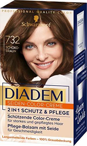 Schwarzkopf Diadem Seiden-Color-Creme 732 Schokobraun Stufe 3, 3er Pack(3 x 170 ml)
