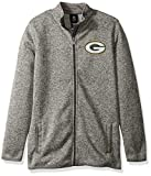 NFL Youth Boys 'Lima' Full Zip Fleece Jacket-Cool Grey-S(8), Green Bay Packers