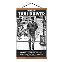 キャンバスに印刷-タクシードライバームービートラヴィスビックルウォールポスターアートホームデコレーションキャンバスウォールアートリビングルームのベッドルームのホームデコレーション-50x75cm(フレーム付き)を直接吊るすことができます