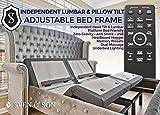 Sven & Son Split King Adjustable Bed Base Frame (Individual Head Tilt & Lumbar) USB Ports, Zero Gravity, Anti Snoring Interactive Dual Massage (Adjustable Base Only, Split King)