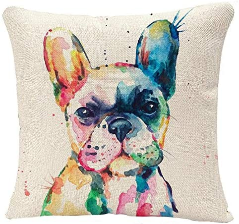 YGGQF Animal Throw Same day shipping Pillow Cover Head Frenchie Bulldog Ori French New Free Shipping