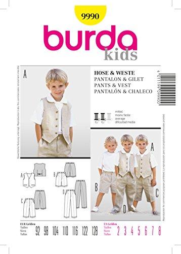 Burda naaipatroon 9990 voor Jongens Broeken & Vest in maten 2-8
