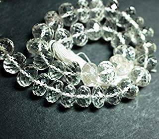 "Jewel Beads 50% Off Crystal, 8-12 mm, 10"" - 1 Strand, Cut Beads, Round Shape Code-AUR-69008"