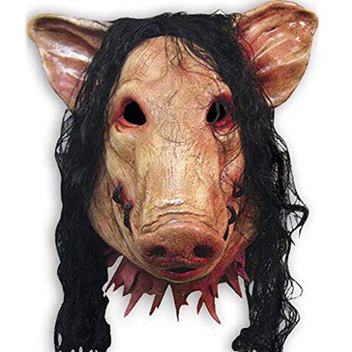 SZ-WSJMJ Maschera di Halloween Full Face Saw Testa del Maiale Mascherina Spaventosa del Partito del Costume Cosplay