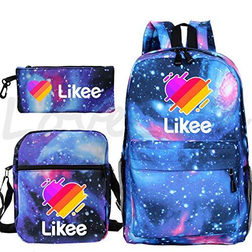 Likee Video App School Bags Pencil Case Beautiful Student School Bags Boys Girls Fashion Popular School Bags for Teenagers 28 Shoulder Bag