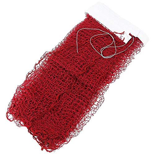 qwertyu Deluxe Badminton-Netz, strapazierfähig, tragbar, für Training drinnen und draußen, 6,1 x 0,76 m, rot