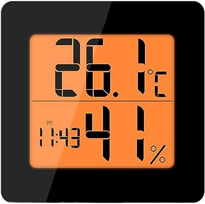 Espejo LED Reloj Despertador Reloj de Sobremesa Digital de Mesa Luz de Despertar Electrónica Pantalla de