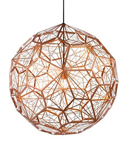 OMGPFR Industriële Hanglamp Dimbaar, Hanglamp RVS lampenkap Schaduwophanging E27 Lampen voor Eetkamer Woonkamer Kroonluchter