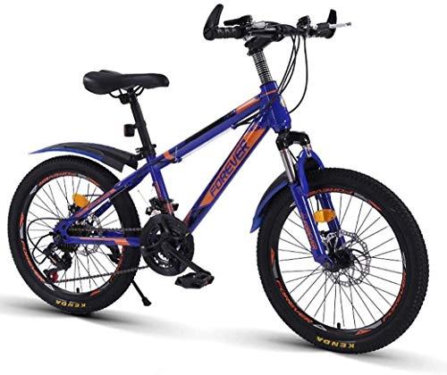 Aoyo Kinder Fahrrad, 20-Zoll-Variable Speed Mountain Bike - 21 Geschwindigkeit bequemer Sattel, rutschfestes Pedal, Federgabel, sicher und einfühlsam Brake, (Color : Purple, Size : B)