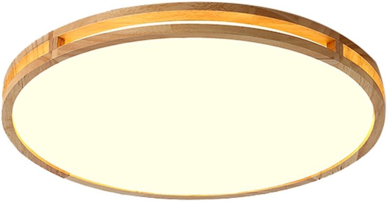 Kreatives Massivholz Rundes Schlafzimmer Licht Modern Einfache Atmosphre LED Deckenleuchte (gre   40  40cm)
