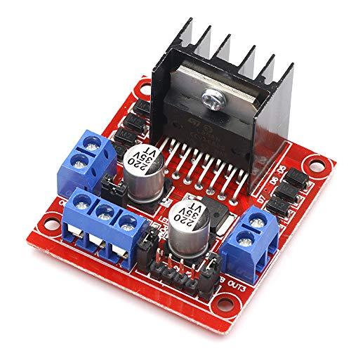 Módulo Controlador de Motor de DC Módulo de Placa de Controlador L298N Motor Paso a Paso DC Stepper Motor Drive para Arduino Robot Inteligente Accesorios de Coche