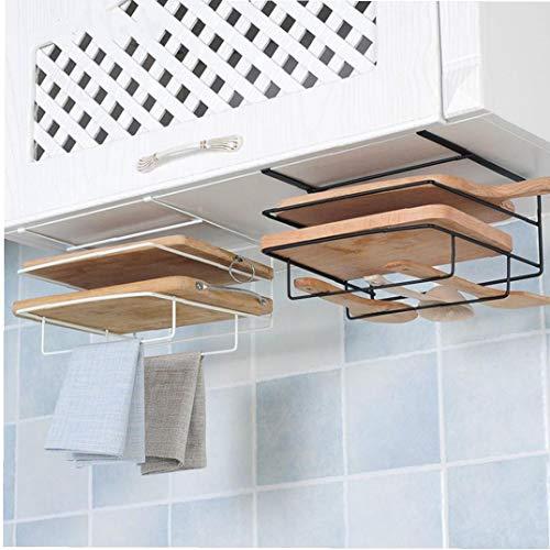 Bongles Haushalt Double Layer Eisen Küchenschränke Regal Schneidebrett Storage Rack Regale Küchentuch Halter-zahnstange