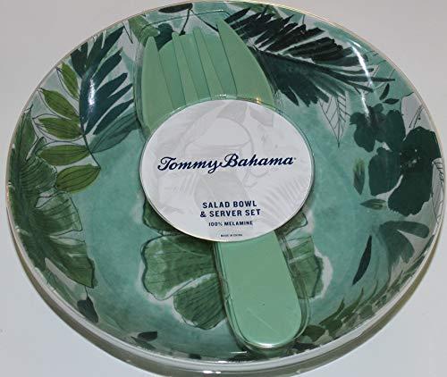 Tommy Bahama 100% Melamine Palms Dinnerware (Salad Bowls w/Tongs)