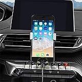 Soporte de teléfono móvil para 3008 Allure Active 5008 B.J. 2020 2019 2018 2017, accesorio para coche, accesorio para rejilla de ventilación de coche,color plateado