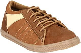 Hopscotch Tuskey Shoes Boys Genuine Leather Genuine Leather Lace Up Shoes in Tan Color