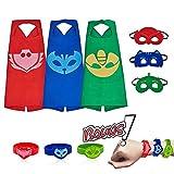 Déguisement Cape Cosplay Costumes avec Capes et Masques pour Enfants, 27''