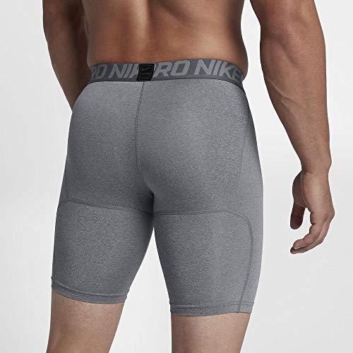 Nike Herren Pro Trainingsshorts, Grau (Carbon Heather/Dark Grey/Black), 2XL - 2