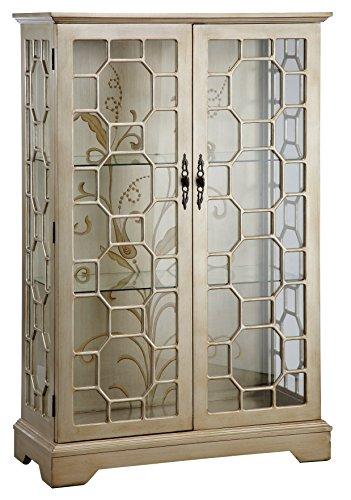 Stein World Furniture Diana Display Cabinet, Silver, Gold
