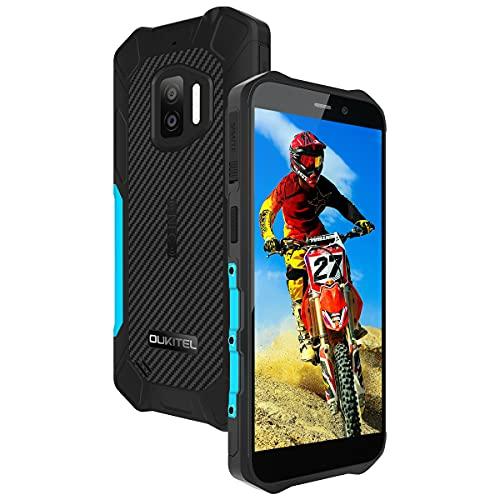 Rugged Smartphone OUKITEL WP12 (2021), Android 11 IP68 impermeabile Dual SIM Telefoni, Display 5,5 pollici Smartphone offerta del giorno, 13MP Dual camera 4000mAh Cellulari Offerte NFC, Blu