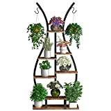 GDLF Tiered Plant Stand,Indoor Tall Metal Shelving Hanging Pot Bonsai Flower Vase Shape Plant Shelf