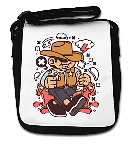 Cowboy Kid Wild West Cartoon Graphic Small Shoulder Bag