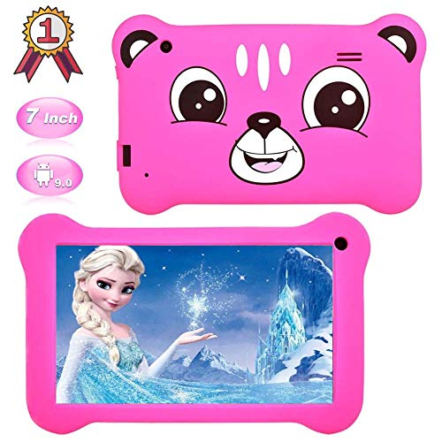 Kids Tablet,7 inch Android 9.0 Kids Edition Tablet with WiFi,GMS Certified, 2GB+16GB Tablet for Kids,Children Tablet with Parental Control, 40+APP Pre-Installed and Kids-Proof Case