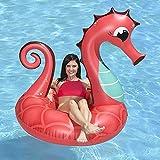 DODOBD Colchoneta Hinchable Piscina, Coral Inflable Caballito de mar Anillo de natación Piscina Flotador Bola Nuevo Unicornio Cisne Montar natación Flotador Tubo balsa Verano Fiesta